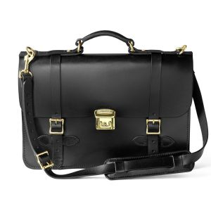 LEATHER FIELD SATCHEL BL OS (сумка)
